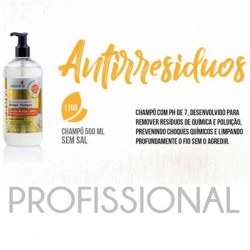 Champô Antirresiduos 500ml Real Natura