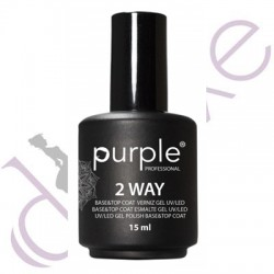 Base & Top Coat 2Way 15ml Purple Professional