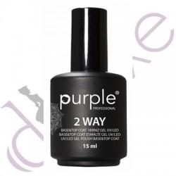 Base Top Coat 2Way 15ml Purple Professional