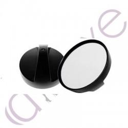 Espelho Circular com Pega Preto