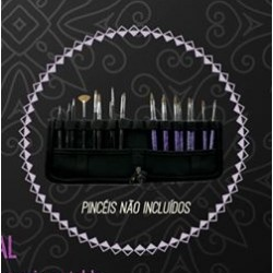 Estojo de Pincéis (vazio) - Purple Professional