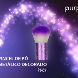 Pincel de Pó Metálico Decorado - Purple