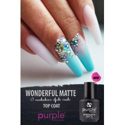 Top Coat Wonderful Matte 15ml Purple Professional