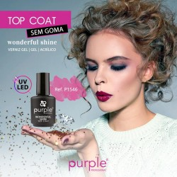 Wonderfull Shine - TOP COAT Extra Brilho Sem Goma - Purple Professional