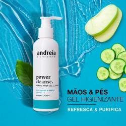 Power Cleanse - Gel de Limpeza para Mãos e Pés 200ml - Andreia Professional