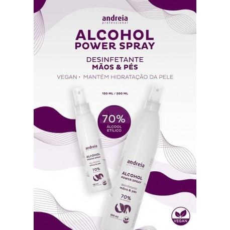 ALCOHOL POWER SPRAY Desinfetante para mãos e pés 70% de álcool etílico