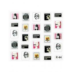 Autocolante 3D (Sticker) Desenhos para as unhas