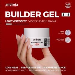 BUILDER GEL 3IN1 Gel de Construção 3em1 baixa viscosidade - Andreia Professional