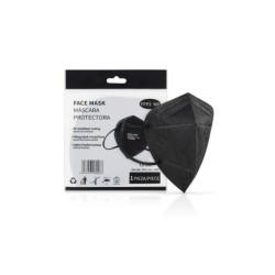 Máscara de Proteção Respiratória FFP2 Cor Preta - 5 unidades
