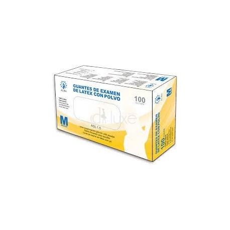 Luvas Descartáveis de Latex com Pó 100 unid - Alba