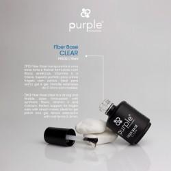 Fiber Base - base forte e flexível formulada com fibras sintéticas, Vitamina E e Cálcio 15ml - Purple Professional