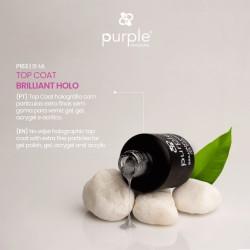 Brilliant Holo Top Coat 15ml - Purple Professional